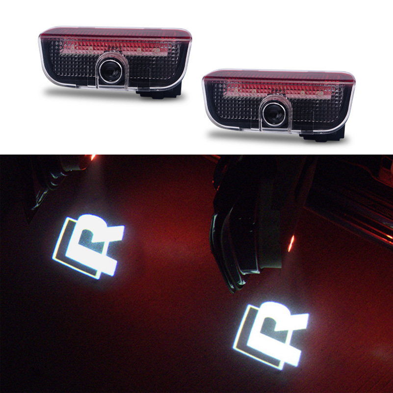 AUXITO Car LED Projector Logo Door Light For Volkswagen VW Golf 5 6 7 Passat B6 B7 CC Jetta MK5 MK6 MK7 Tiguan Scirocco EOS 1x led luggage compartment trunk boot lights 12v for vw caddy eos golf jetta passat cc scirocco sharan tiguan touran touareg t5