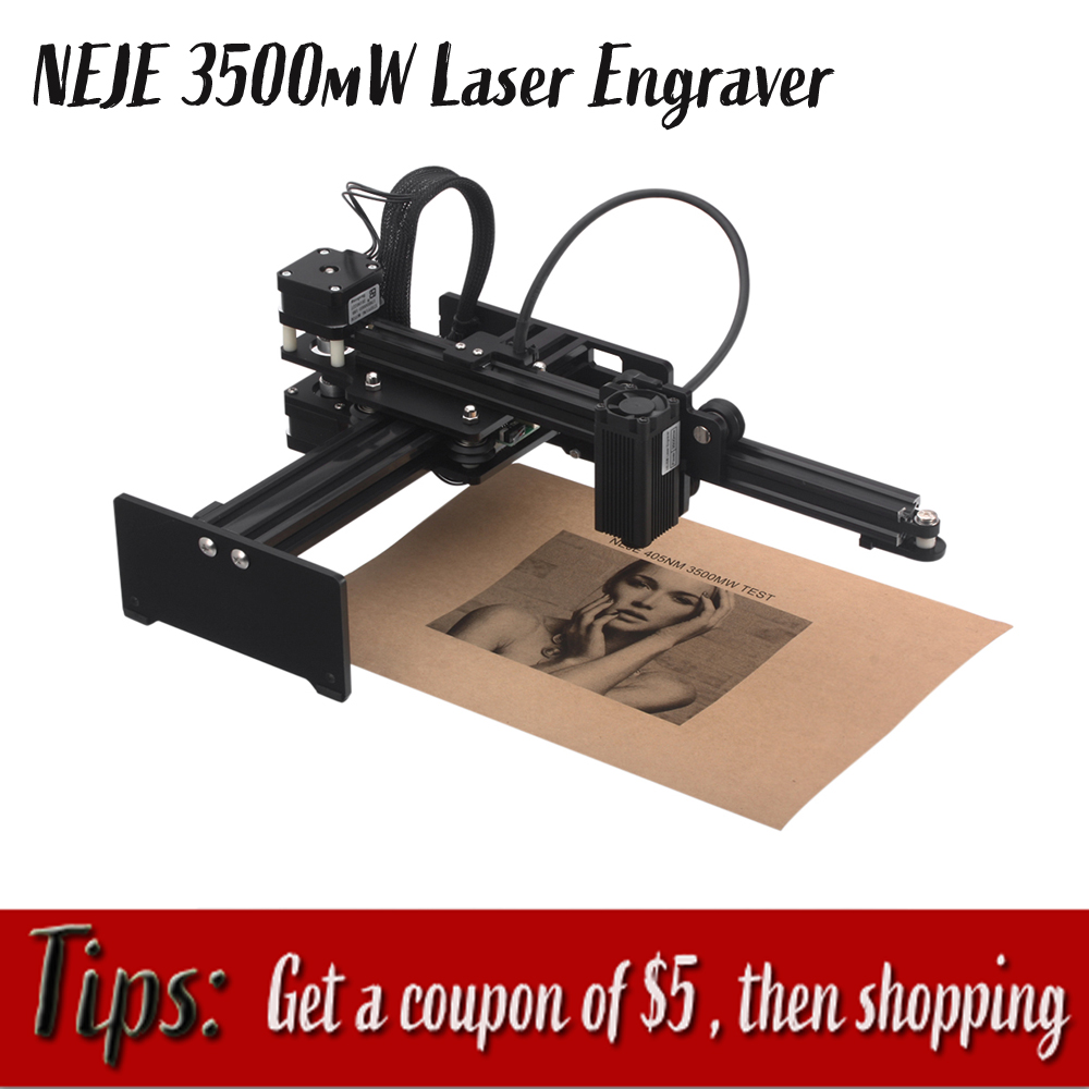 NEJE 3500mW New High Speed Laser Engraving Machine USB DIY CNC Laser Engraver Printer Automatic Handicraft Wood Burning Tools
