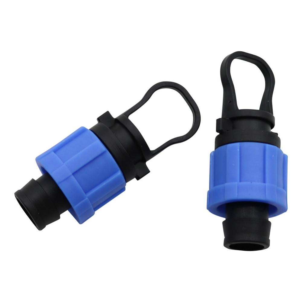 16mm Lock Drip Tape Plugs For Agriculture Greenhouse Drip Tape Irrigation Adapter Garden Hose Connector 3 Pcs