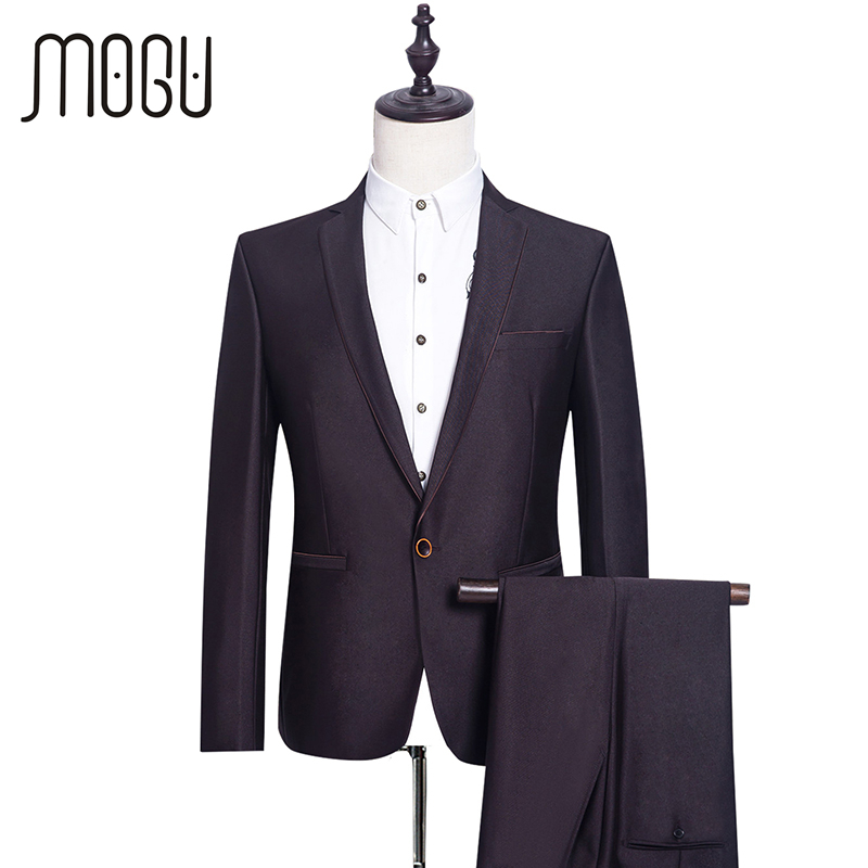 MOGU Two Piece Formal Men Suits High Quality Slim Fit Suits Fashion Mens Clothing New Wedding Suits For Men Asian Size Costumes