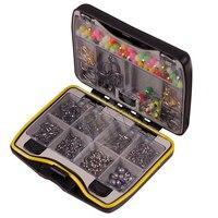 On Sale Fishing Kit Barrel Swivels Snaps Spilt Open Rings Beads Jigs Hooks Sinker Weight OSSW02