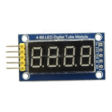 4 Bits Digital Tube LED Display Module Four Serial for 595 Driver 1PC Z09 Drop ship