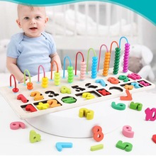 Wooden Montessori Materials Learning To Count Numbers Matching Digital Shape Match Children Early Education Teaching Math Toy
