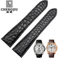 24mm Men's Crocodile Leather Watch Strap Cartier/Calibre/ W7100041 Top Brand Bracelet Deployment Buckle Bands Accessories Homme