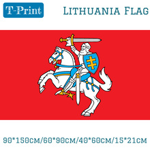 Free shipping State Flag Of Lithuania Lithuanian Ensign 3X5ft Polyester Banner Flying 150*90cm Custom Outdoor