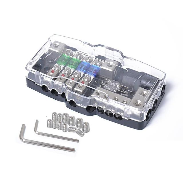 lumiparty multi-functional led mini anl fuse box 4 ways fuse block fuse  holder with fuse practical tool easy to install r30