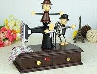 Criativo musicbox fabergé caixa de música máquina de costura caixa de música para crianças menina presente de Natal home decor