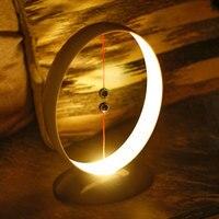 Suspensão magnética balanceamento lâmpada de carregamento usb led simples luz noturna inteligente ja55