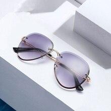 2019 new fashion ladies sunglasses UV400 oval metal frame glasses classic brand designer design pilot sports driving