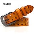 Hollow Out Genuine Leather Belts For Women Cowskin Casual Style Belt Female Straps Ladies Belt