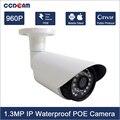 Heißer Verkauf HD 960 P Überwachungskamera Im Freien Wasserdichte Mini Onvif CCTV System IR Nachtsicht P2P 1.3MP Ip-kamera POE