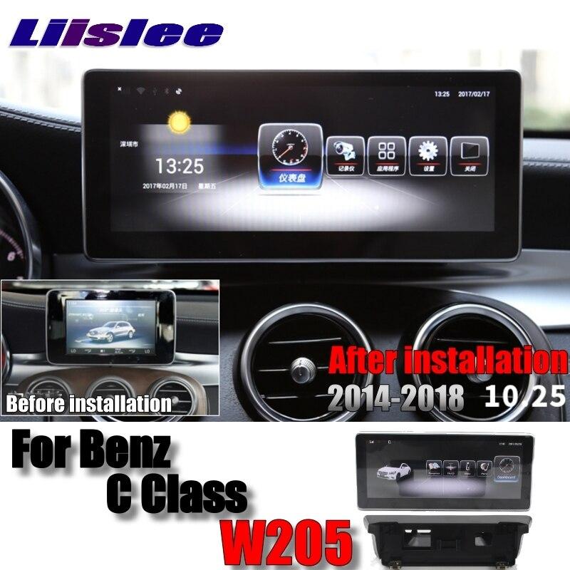 Liislee Car Multimedia Player NAVI For Mercedes Benz C Class MB W205 2014~2018 Accessories Car Radio Stereo GPS WIFI Navigation