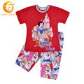 2-10T Summer Baby Girl Kids Clothes Snow White Cotton Short Sleeve Character Girls Clothing Set t-Shirt+Pants Summer Kid Wear