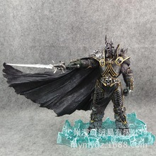 Starz Game WOW Arthas Menethil Fall of the Lich King Handing Frostmourne Static Collection Action PVC Figure Toys 20CM A447