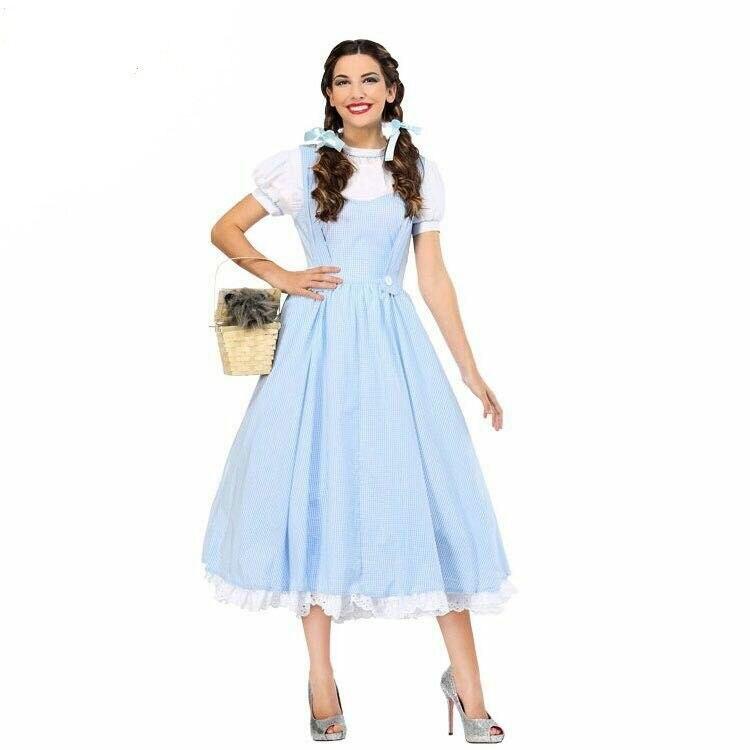 Style européen américain femmes Vintage robe de femme de chambre parler histoire