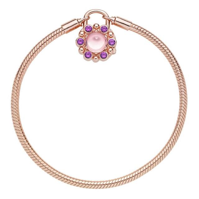 New 925 Sterling Silver Rose Moments Heraldic Radiance Bracelet Padlock Clasp Bracelet Bangle Fit Bead Charm Diy Fine Jewelry