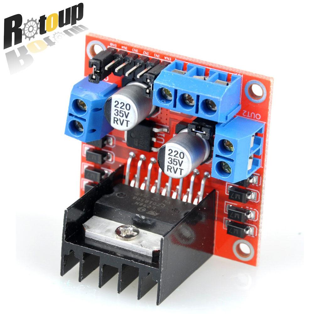 все цены на  L298n Dual ponte H Bridge DC Stepper Motor Drive plate Controller Board Module miniature for Ar-duino smart car robot techology  онлайн