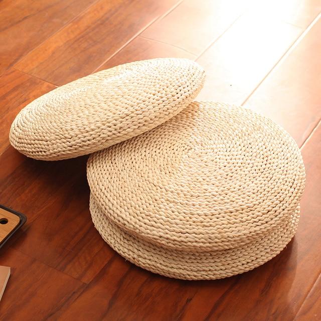 Tea Ceremony Straw Mats Cushion Thickening Meditation Mat Zen Sitting Rattan Pad Futon Round