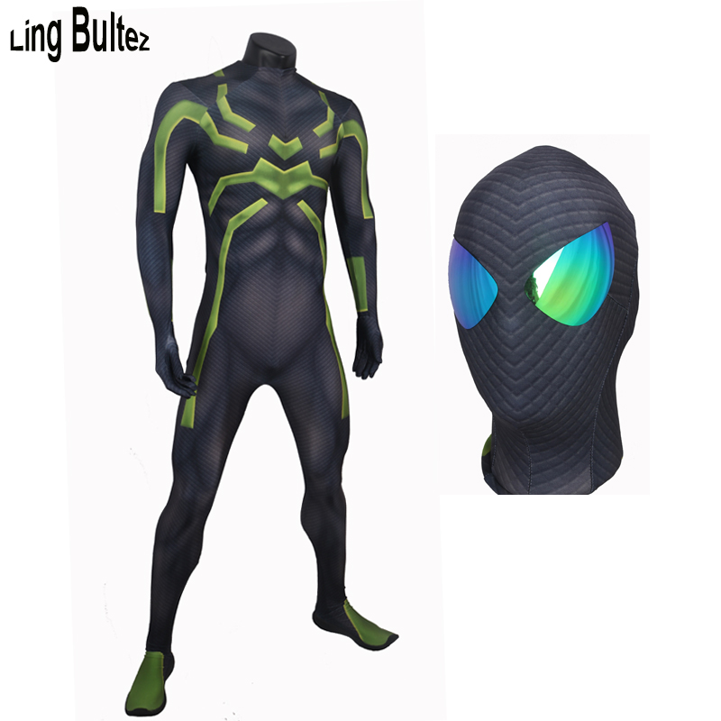 Ling Bultez High Quality Big Time Spiderman Cosplay Costume For Halloween Big Time Spider man Suit