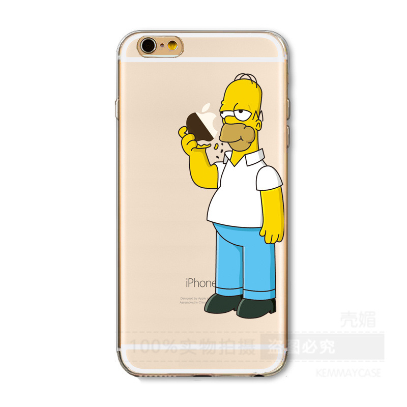 huge discount d129f b37f5 Homer Simpson Funny Transparent Case For iPhone 6 6S 7 8 Plus X XS MAX XR