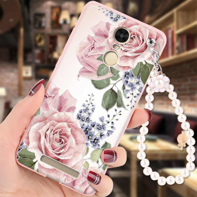 Xiaomi Redmi note 3 Case Soft Silicon 3D Relief Painting Pearl bracelet Fashion Girl Back Cover capa for Redmi note 3 pro cases