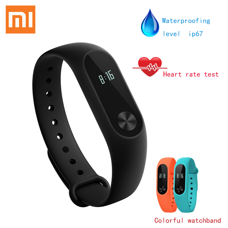 In Stock! New 2016 Original Xiaomi Mi Band 2 MiBand 1S 1A Smart Heart Rate Fitness Wristband Bracelet OLED Christmas Gifts ...