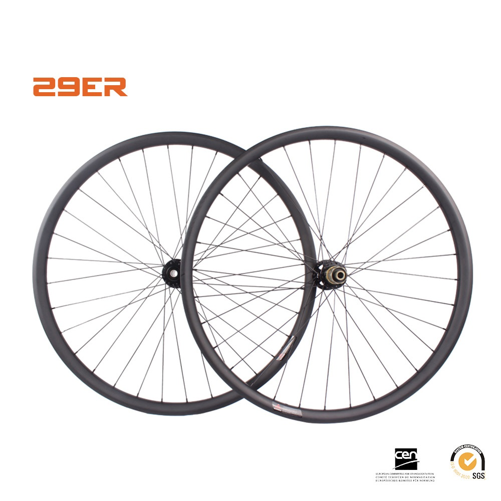 29er MTB wheelsets carbon disc wheel 35mm width cycle rim clincher hookless tubeless 29
