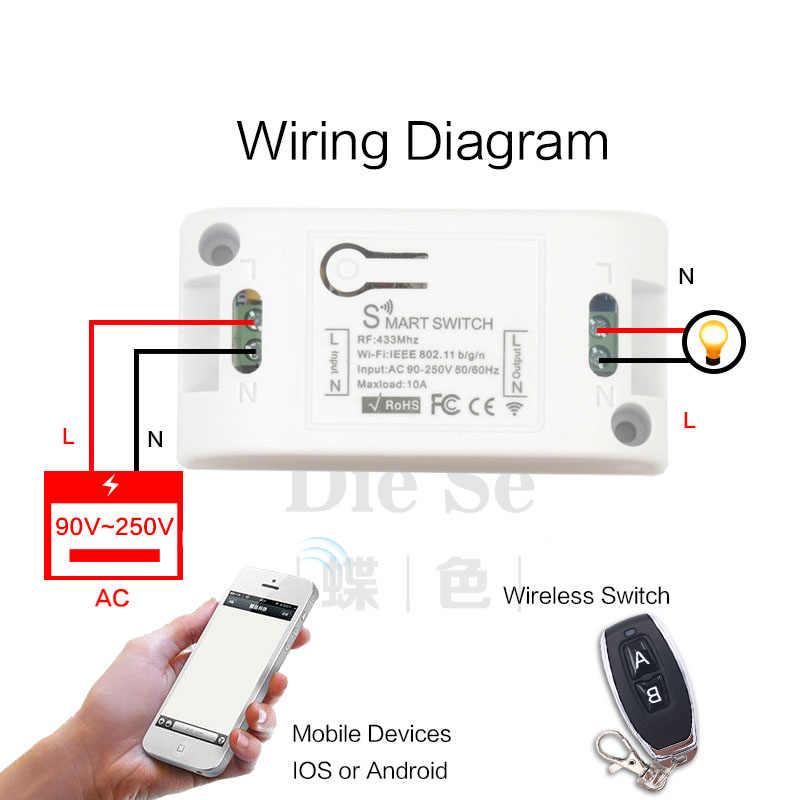 無線 Lan スイッチと互換性 433 433mhz のワイヤレス Rf リモート制御 AC220V 10A 1CH スマートコントローラ DIY タイマー ios アンドロイド