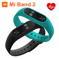 100 Original Xiaomi Mi Band 2 Miband 2 Smart Wristband OLED Display IP67 Waterproof Bluetooth Bracelet
