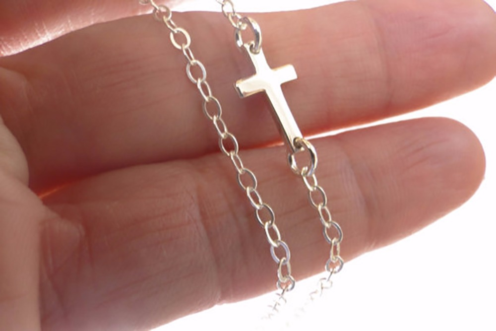 1pc silver gold cross pendant necklace fashion sideways cross 1pc silver gold cross pendant necklace fashion sideways cross necklace women tiny jewelry necklace women fashion jewelry in chain necklaces from jewelry aloadofball Gallery