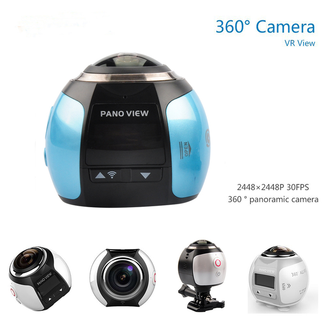 360 Mini Panoramic Action Camera 360 Camera 4K Wifi 2448*2448 Ultra HD Panorama Camera 360 Degree Sport Driving VR Camera