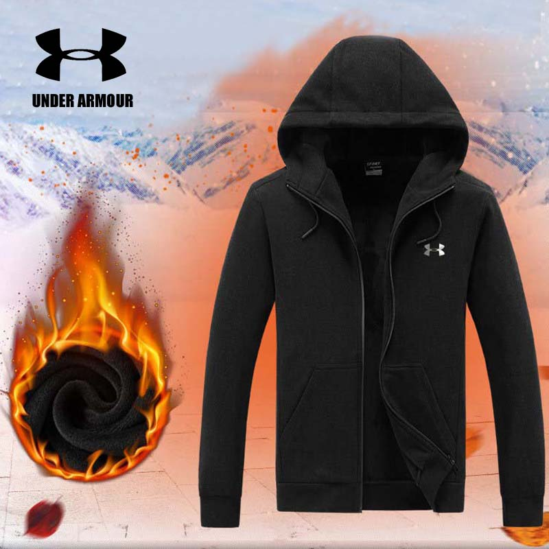 Under Armour Men Winter Velvet Jacket Brand casual Sports Jackets Outdoor running jackets Chaqueta Hombre invierno High quality цена