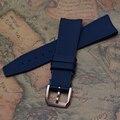 22 mm nueva alta calidad en oro rosa de acero hebilla de caucho de silicona dark blue reloj correa de la banda para relojes deportivos estilo de moda