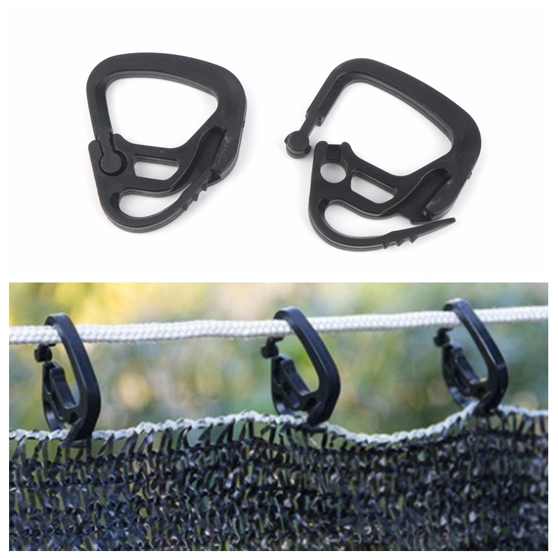 20/30pcs Shading Net Hook Agriculture Greenhouse Sunshade Net Curtain Line Outdoor Courtyard Poultry Aquaculture Fence Line