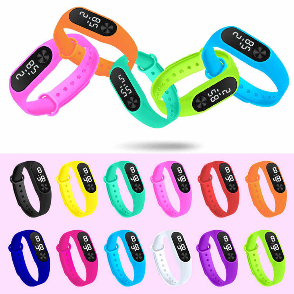Moda digital led sports watch unisex silicone banda relógios de pulso masculino feminino