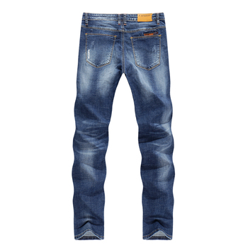 KSTUN Men's Jeans Summer Thin Business Casual Slim Straight Jeans Stretch Denim Pants Trousers Classic Cowboys Young Man Jean 38 1