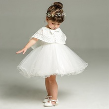 2 pçs/set 3 24 Meses Infantil Formal Vestidos Vestido Da Menina Do Bebê Para O Aniversário & Wedding Ocasião vestidos de Baptizado Batismo Roupas TS46