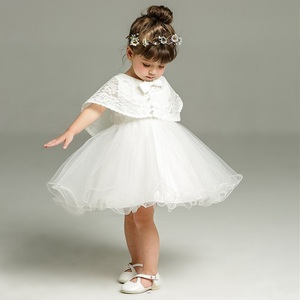 Image 1 - 2pcs /Set Baby Girl Dress 3 24 Months Infant Formal Dresses For Birthday&Wedding Occasion Christening Gowns Baptism Clothes TS46