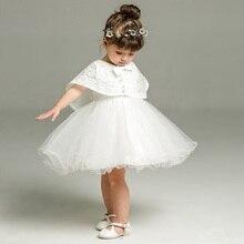 Conjunto de 2 unidades de vestido para niña de 3 a 24 meses, vestidos formales infantiles para cumpleaños y ocasión para boda, vestidos de bautizo, ropa de bautismo TS46