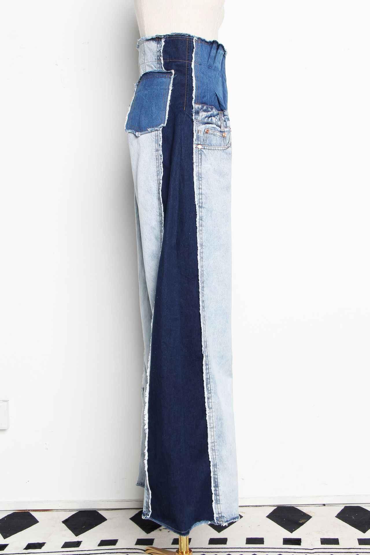 GETSRING женские джинсы стиль ретро джинсы Patchwrk широкие джинсы женские джинсовые широкие брюки длинные широкие джинсовые брюки