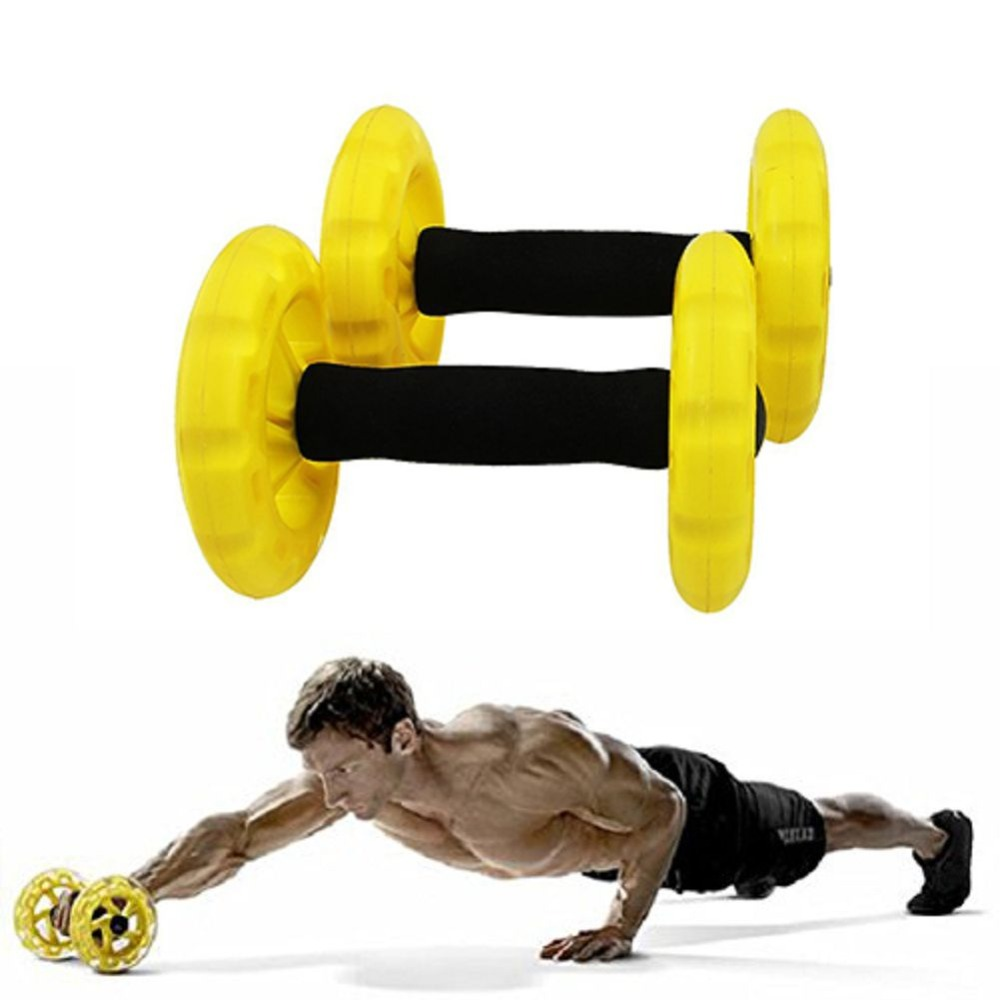 ФОТО New Crossfit Abdominal Ab Roller Trainer Body-building Ab Wheels Core Waist Exerciser Fitness Equipment For Home