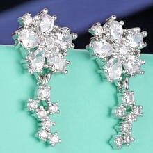 Женские серьги гвоздики с кристаллами e80001