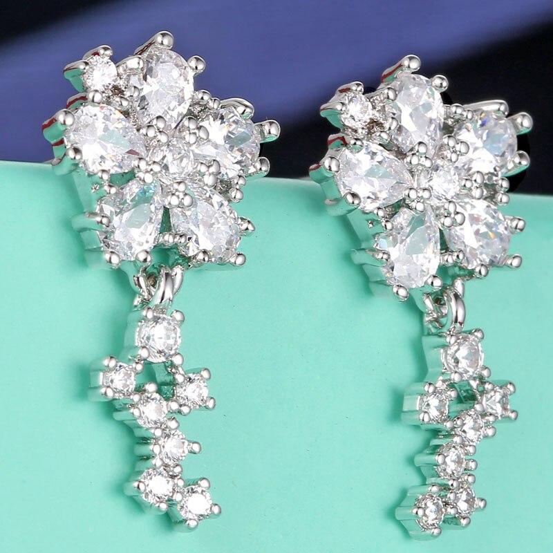 LanTai Jewelry Factory Store pair Stud Earrings for Women brincos para as mulheres bijouterie brinco 2017 Fashion Shine Crystal Women's earrings studs E80001