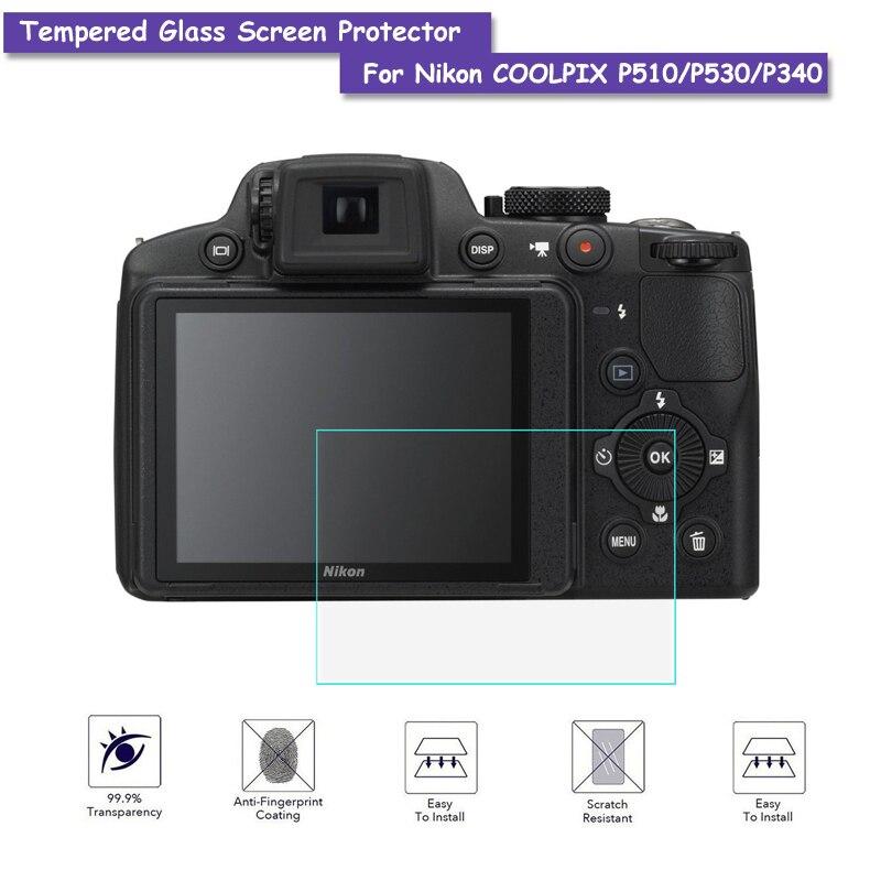 9 H Verre Trempé Protecteur D'écran LCD Verre Véritable Bouclier Film Pour Nikon COOLPIX P510/P530/P340 Caméra Accessoires