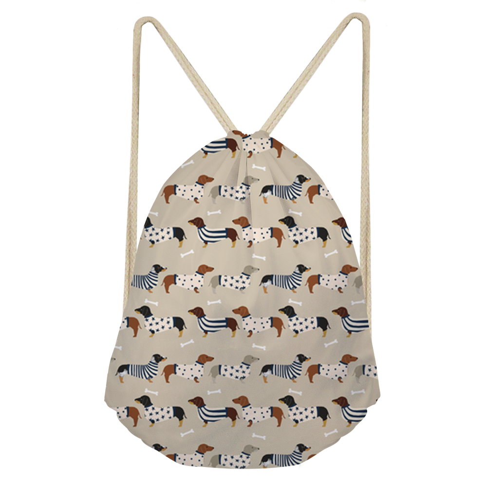 Noisy Designs Drawstring Bag 3D beagle Printed String Sack Beach Women Travel Storage Package Teenagers Backpack