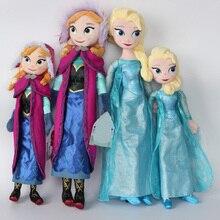 50cm Snow Queen Princess Fever Anna Elsa Brinquedos Stuffed Animal Plush Toy Doll For kids Christmas