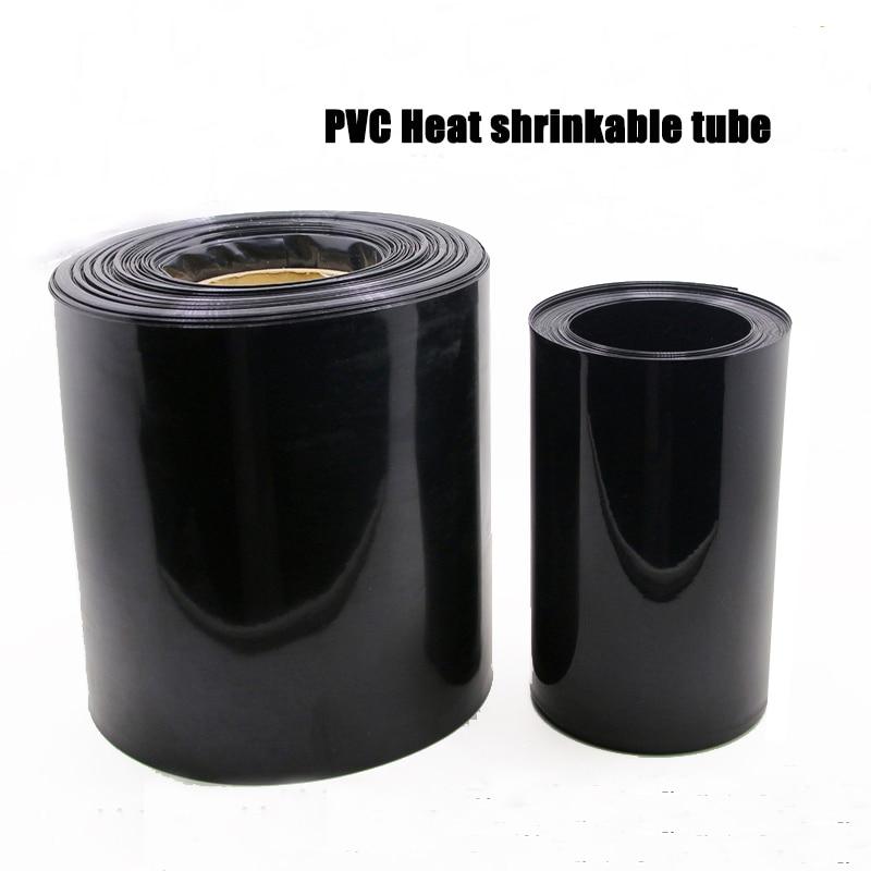 1 кг ПВХ термоусадочная трубка 0,1 мм Толщина 10-250 мм плоская ширина черный 18650 литиевый аккумулятор пластик кожа огнестойкий