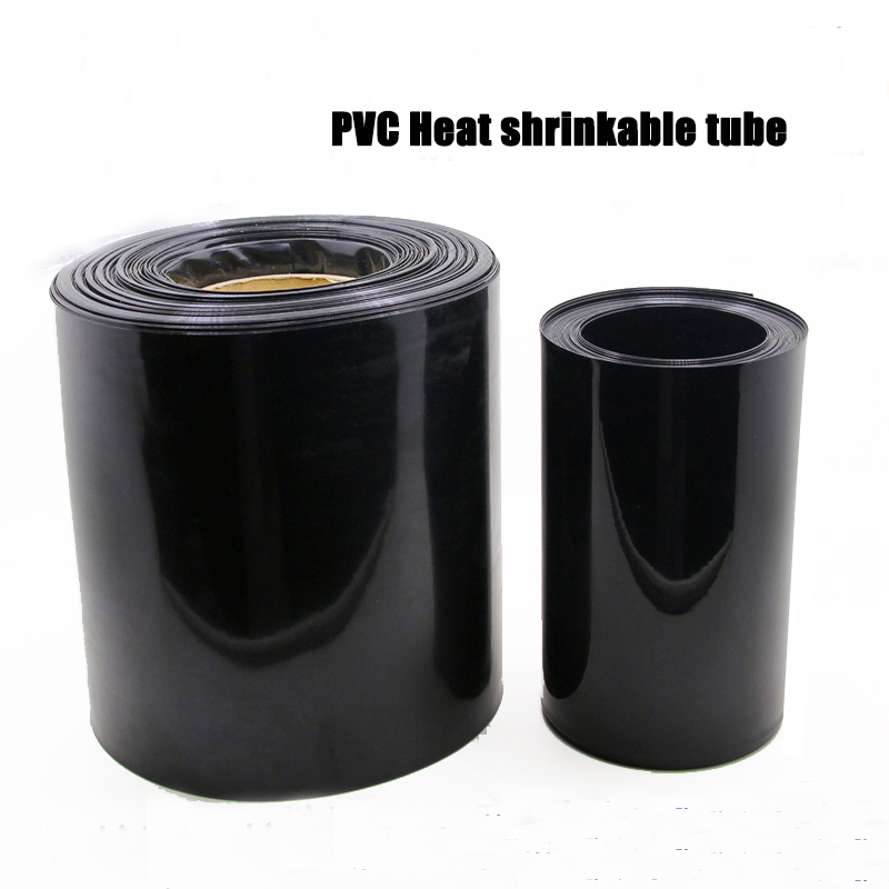 Clear Green PVC Heat shrinkable tube 0.1MM thickness 140mm Flat width 144mm length  black 18650 lithium battery pack