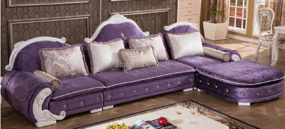 Living Room European Style Sofa New Clics French Designs On Woodwork Fabric Corner