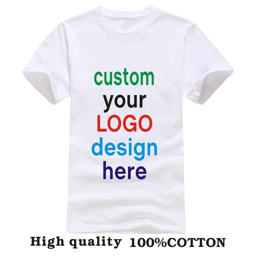 Advertising brand Customized T shirt Print Your Own Design mens ...